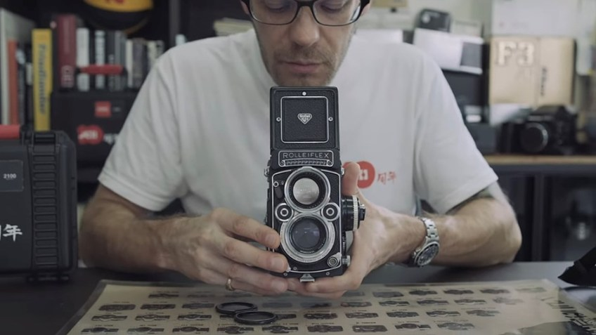 Video: A look at the rare 'white face' Rolleiflex 2.8F twin-lens reflex camera