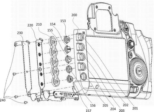 Canon illuminated buttons patent hints at future prosumer