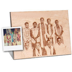 engraved photo frame wooden