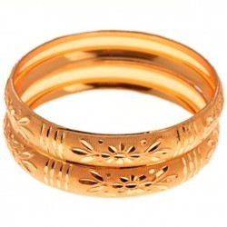New Arrival Floral Design Gold Plated Bangles Service