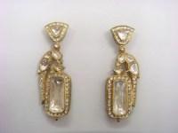 Polki Diamond Earrings Shires And Polki Diamond Stud ...