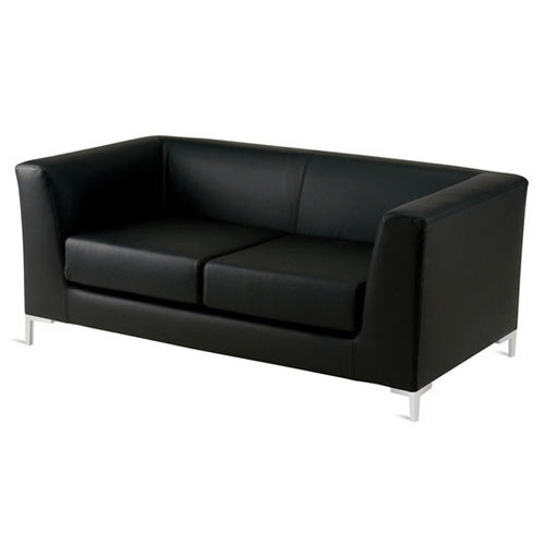 Office Sofa Maggie Series Black Leather Soft Vinyl Office