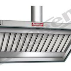 Kitchen Exhaust Fan Commercial Red Table Set Hood Ventilation System
