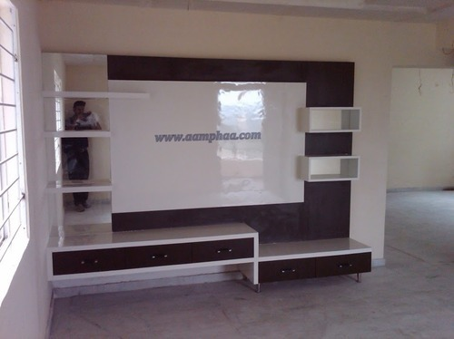sleek tv unit design for living room asian decor interior at rs 29000 piece s wall company details