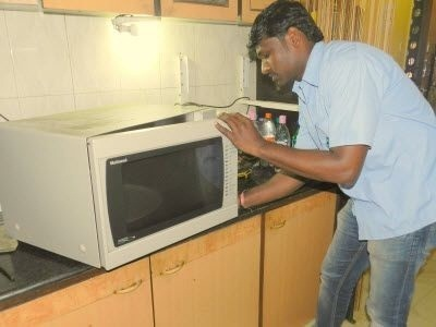 microwave oven installation service in