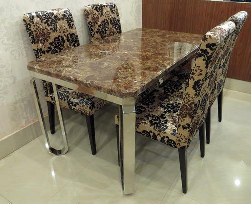 steel kitchen table designer kitchens stainless dining shape rectangular rs 35000 set id