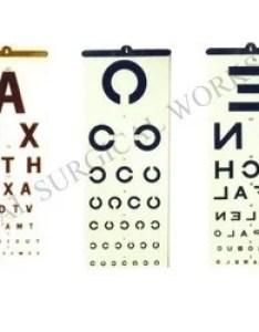 Eye charts regular also vision chart manufacturers  suppliers in india rh dirdiamart