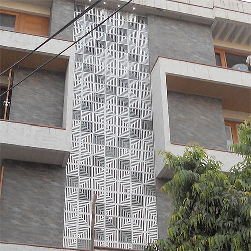 Exterior Jaali ACP Front Elevation Manufacturer From Delhi