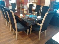 8 Seater Dining Table Set, Wooden Dining Set   Ghitorni ...