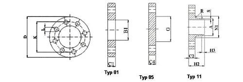 Flanges PN-100 EN 1092-1, Flanges & Flanged Fittings