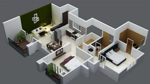 2bhk Interior Designing Bedroom Design Home Interior Design