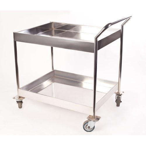 stainless kitchen cart remodel cost estimator silver steel trolley rs 800 piece keddy concept