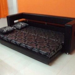 Sofa Set Designs For Small Living Room India Decor With Gray Couch Wooden Cum Bed, Warranty: 2 Years, Rs 35000 /piece ...