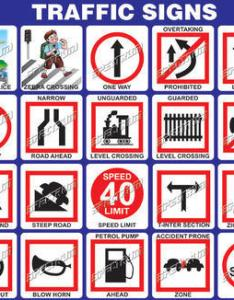 Traffic signs chart view specifications  details of also all about road signals indian driving schools rh kidskunstfo
