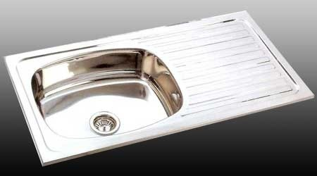 kitchen sinks with drain boards country clocks esme stainless steel single bowl sink board 304 grade