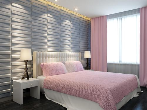 PVC And WPC Cutting 3D Wall Panels Bedroom Manufacturer From Panchkula