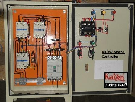 star delta wiring diagram motor start trailer brake box starter control panel kaizen electricals