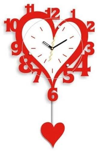 clocks alarms items heart