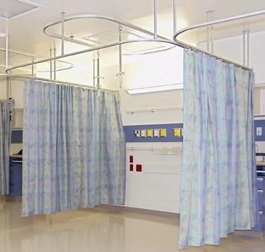 hospital cubicle tracks hospital