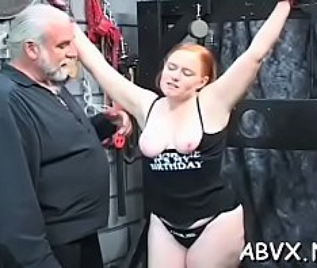 Extraordinary Slavery Flick With Sweetie Serving The Sloppy Play