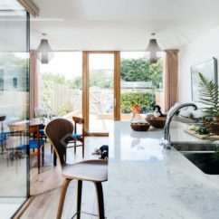 Furniture For Small Living Room With Fireplace Decorating Rectangular Extension Internal Courtyard To A Terraced House ...