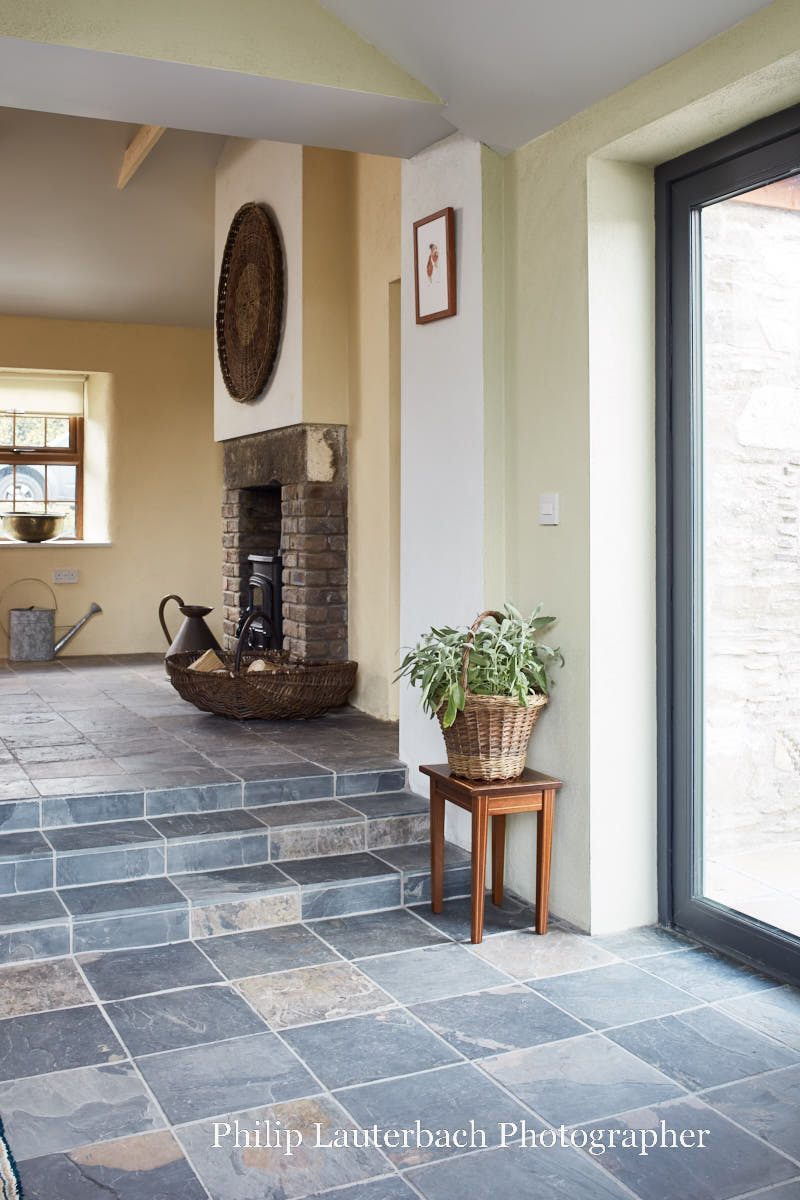 Stone cottage in a village with added extension and views