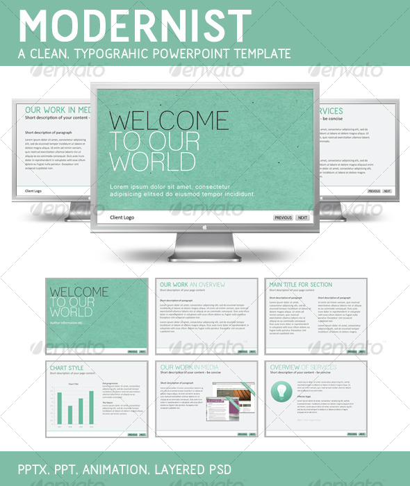 Modernist PowerPoint Template - GraphicRiver Item for Sale