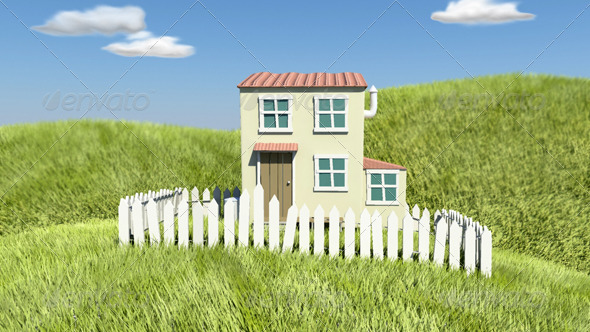 Cartoon Style House 3DOcean -  Buildings and Architecture  Buildings 147843