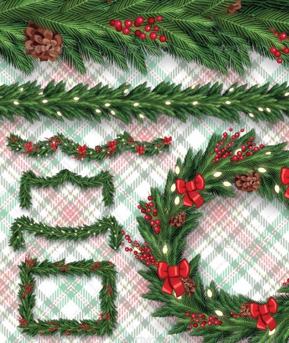 Garland/Wreath Layered Brushes Set
