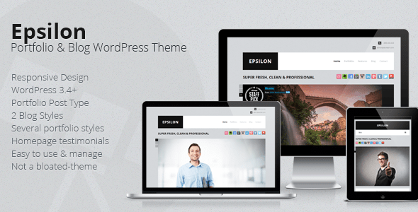 Epsilon Corporate Portfolio & Blog WordPress Theme - ThemeForest Item for Sale