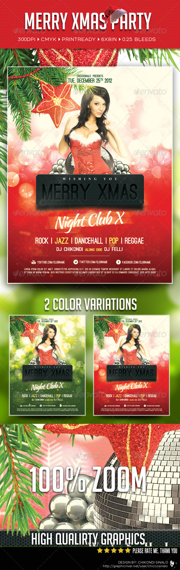Merry Xmas Party Flyer Template Is Great Flyer Design For Christmas …
