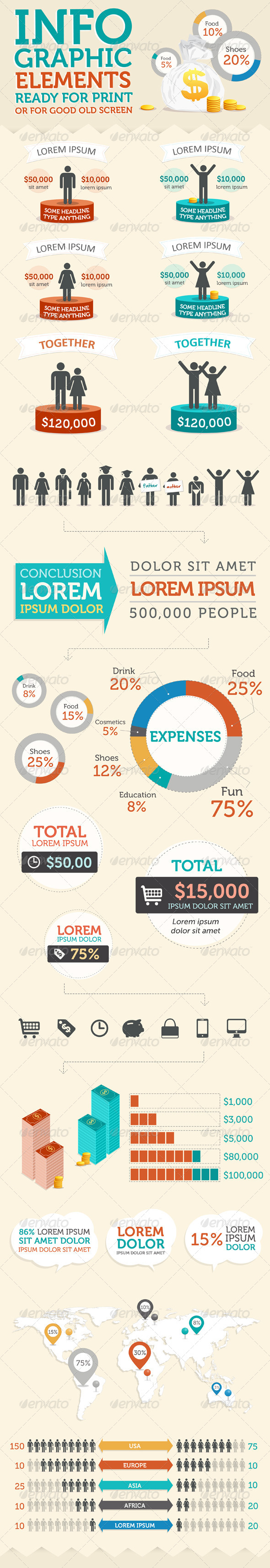 Stylish Infographic Elements Kit