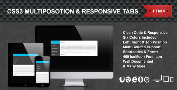 CSS3 Multiposition & Responsive Tabs