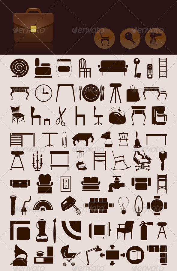 House icons GraphicRiver - Vectors -  Objects  Man-made objects 555817