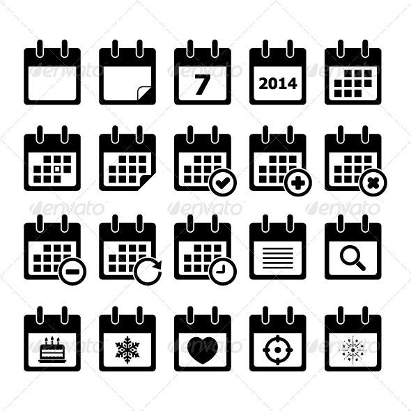 Calendar Icon (Web Elements) Download ~ Best GFX Download