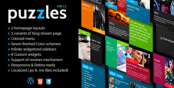 Puzzles | WordPress Magazine/Review Theme - Blog / Magazine WordPress