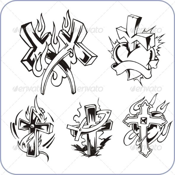Roman Catholic Religious Symbols Vectors » Dondrup.com