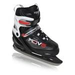 Move Ice-400 verstelbare ijshockeyschaatsen zwart/rood kinderen