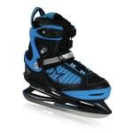Stuf verstelbare ijshockeyschaatsen zwart/blauw kinderen