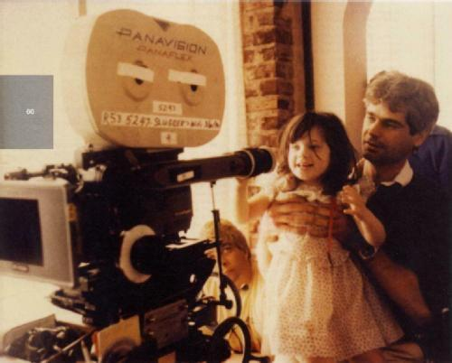 likeyoumeanitlikeyoudo:  Young Zooey Deschanel with her father, Caleb Deschanel.