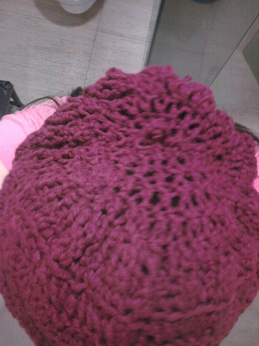 top view of the hat (when worn)