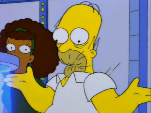Homer Simpson eating candy.