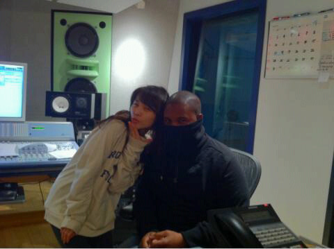110119 Claude Kelly's Twitter  Pic: Studio day 2 with Sun of the Wondergirls. :)