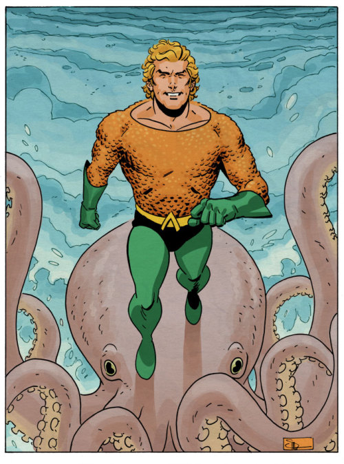 Aquaman and Topo by DocShaner