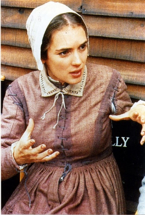 On the set of The Crucible - 1996