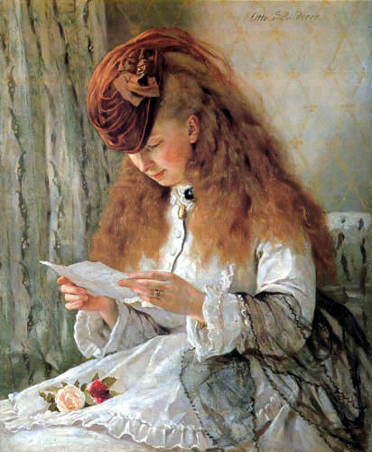 A Girl Reading a Letter, Otto Scholderer.