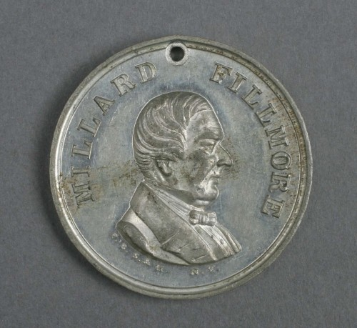 Millard Fillmore campaign medallion from 1856 Know-Nothing Party - National Archives