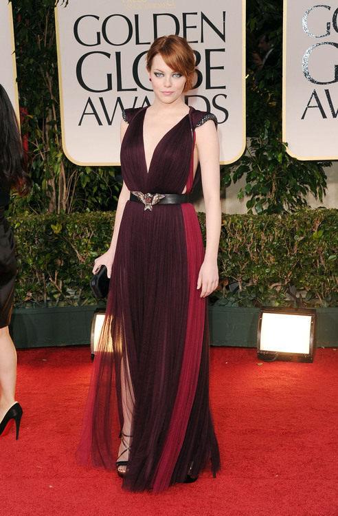 Emma Stone in Lanvin #GoldenGlobes<br /><br /><br /><br /><br /><br />