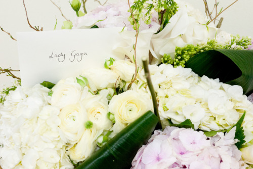 Flowers for Lady Gaga.