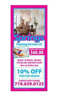 Cleaning Service Door Hanger Samples
